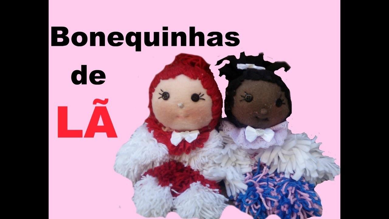 DIY:  BONEQUINHA DE LÃ. WOOL DOLL