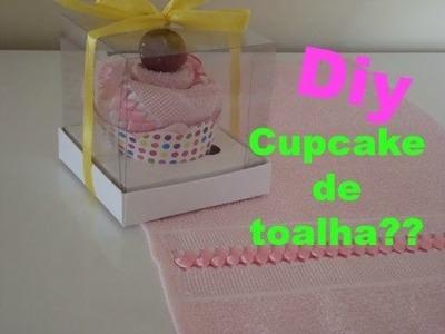 Diy - como fazer toalha em forma de cupcake