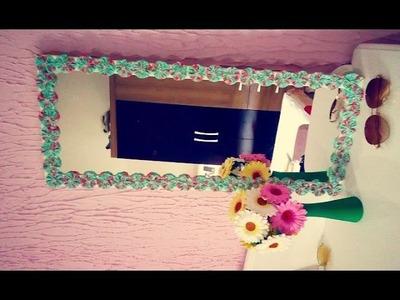 DIY: Espelho com moldura de fuxico