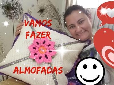 DIY:::::FAZENDO ARTE COM ALMOFADAS, E VEJA COMO É FACIL DECORAR SUA CASA. .