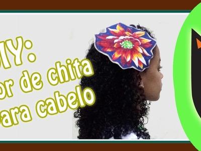 DIY - flor de chita para cabelo (Especial Vozes Afro)