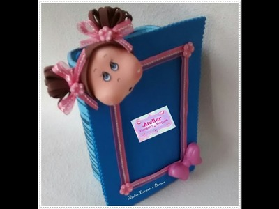 DIY Kit 2 em 1 Porta Retrato e Porta Treco. ( Profª. Hortência Piraciaba)