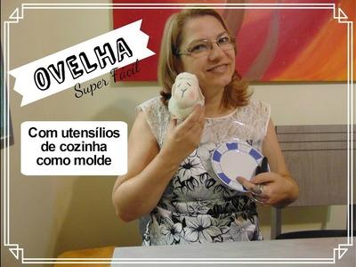 DIY- Ovelhinha Super Fácil com utensílios de cozinha
