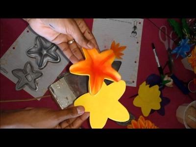 DIY: Pintando flores de eva com tinta de tecido