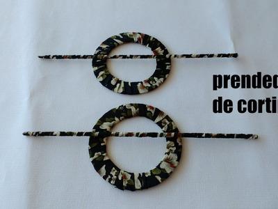 DIY- PRENDEDOR DE CORTINA COM CDS USADOS