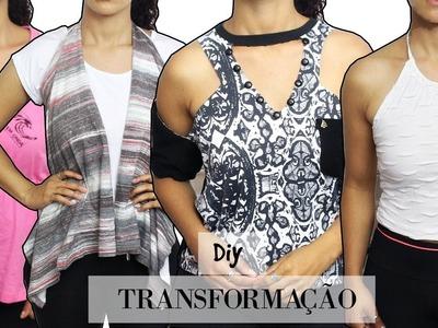 DIY - TRANSFORMANDO CAMISETAS - T-SHIRT TRANSFORMATION