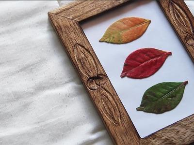 Reutilização de Folhas de Outono e Moldura | DIY FÁCIL