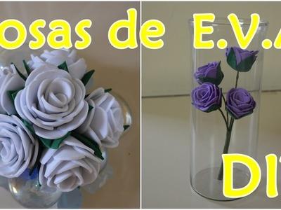 Rosa fácil de EVA - DIY | Sayury mendes