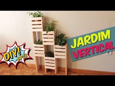 Como fazer um jardim vertical  gastando pouco - DIY