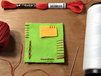 Dicas de como fazer ponto caseado, palito, atrás e corrente - DIY - Passo a Passo
