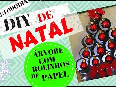 DIY ÁRVORE DE NATAL COM ROLINHOS DE PAPEL HIGIÊNICO   #VITRINETODODIA SILMARA GUIMARÂES