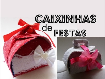 DIY: CAIXINHAS PARA FESTAS. PARTY FAVOR  BOXES. CANDY BOXES.CANDY PACKAGING