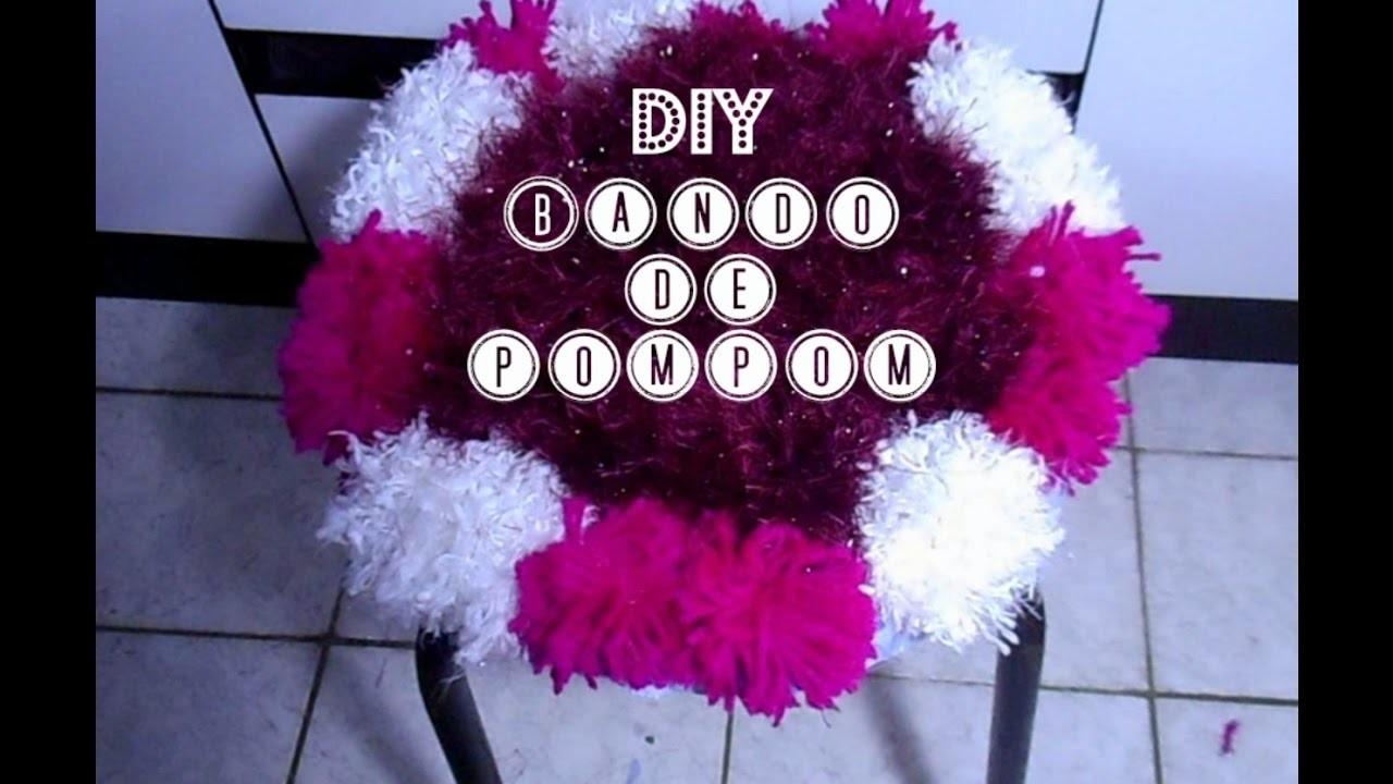 DIY. Faça Você Mesma: Banco de Pom Pom| Lidiane Pícculi