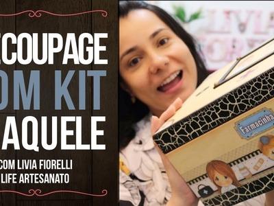 DIY | Faça Você Mesmo | Decoupage com Kit Craquele | Livia Fiorelli | Life Artesanato