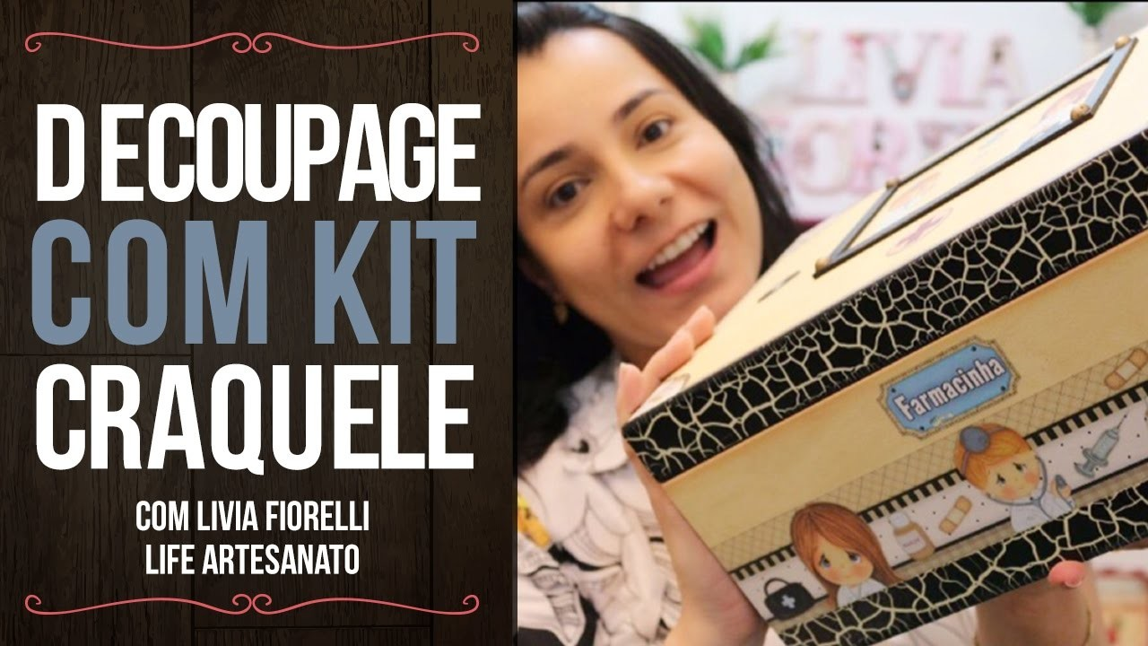 DIY   Faça Você Mesmo   Decoupage com Kit Craquele   Livia Fiorelli   Life Artesanato