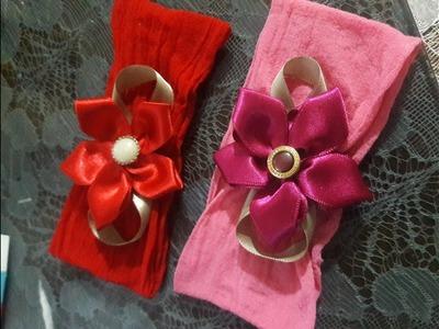 DIY  - Faixa de cabelo  com flor