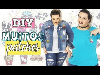 Diy Patches -Bolsa |T-shirts | Transformando Camisa jeans em jaqueta e mais