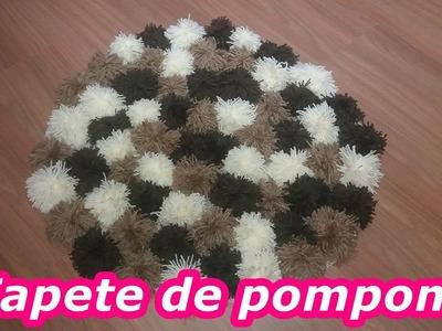 DIY| Tapete redondo de pompom