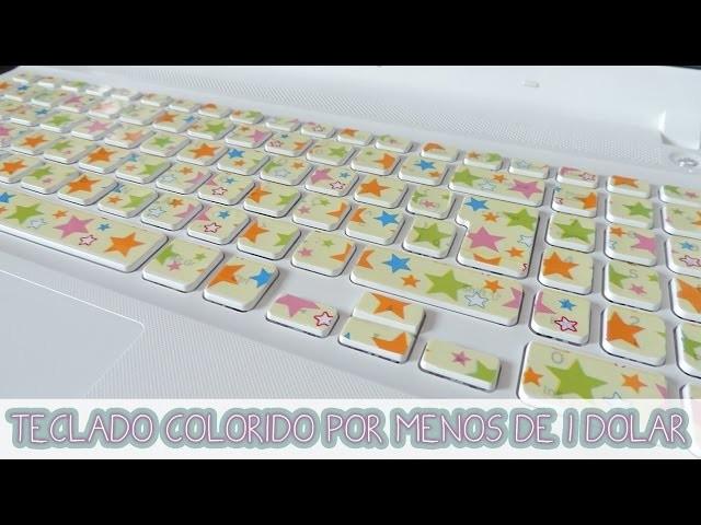 DIY: TECLADO COLORIDO COM FITA ADESIVA