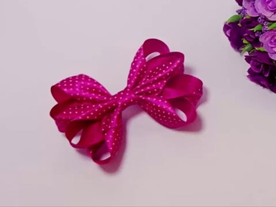 Laço Boutique Duplo.Diy Ribbon aula 68