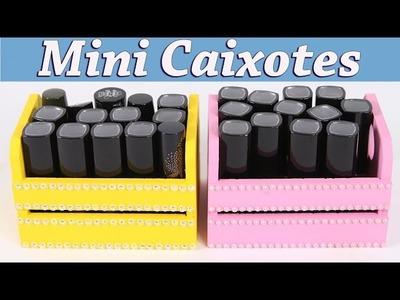 Mini Caixotes Porta Batons - Artesanato e DIY