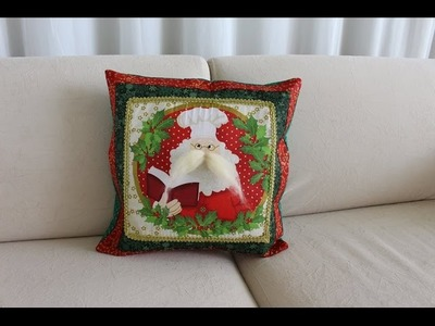 Capa para Almofada com Zíper Embutido - Tema Natalino
