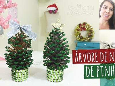 Como fazer Árvore de Natal de Pinha + Rolo de Papelão