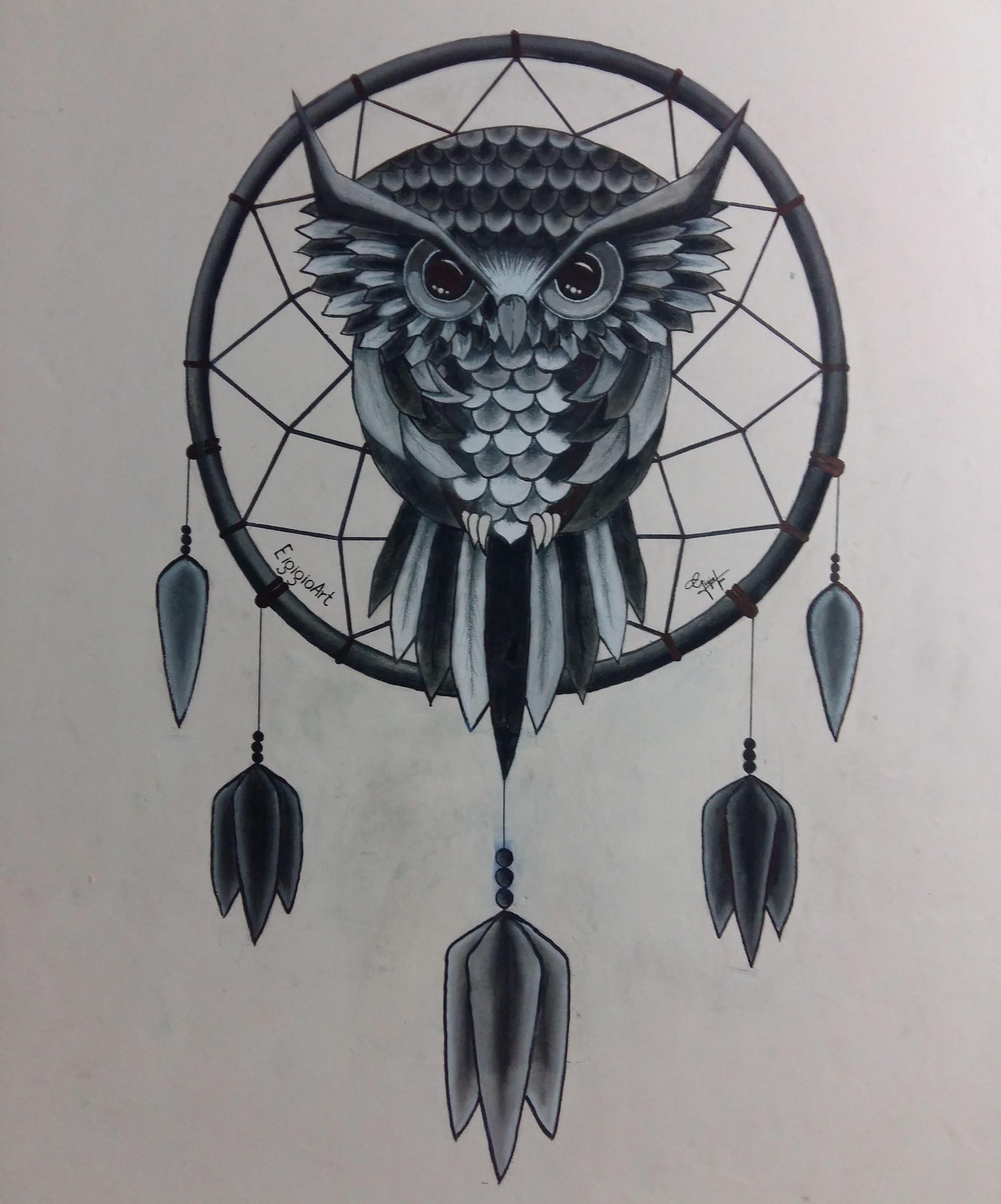 Desenho Filtro Dos Sonhos Coruja