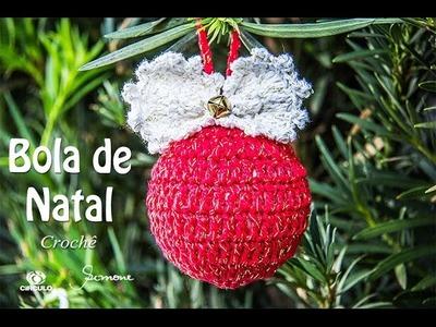 Bola de Natal de Crochê | Enfeite de Natal | Professora Simone