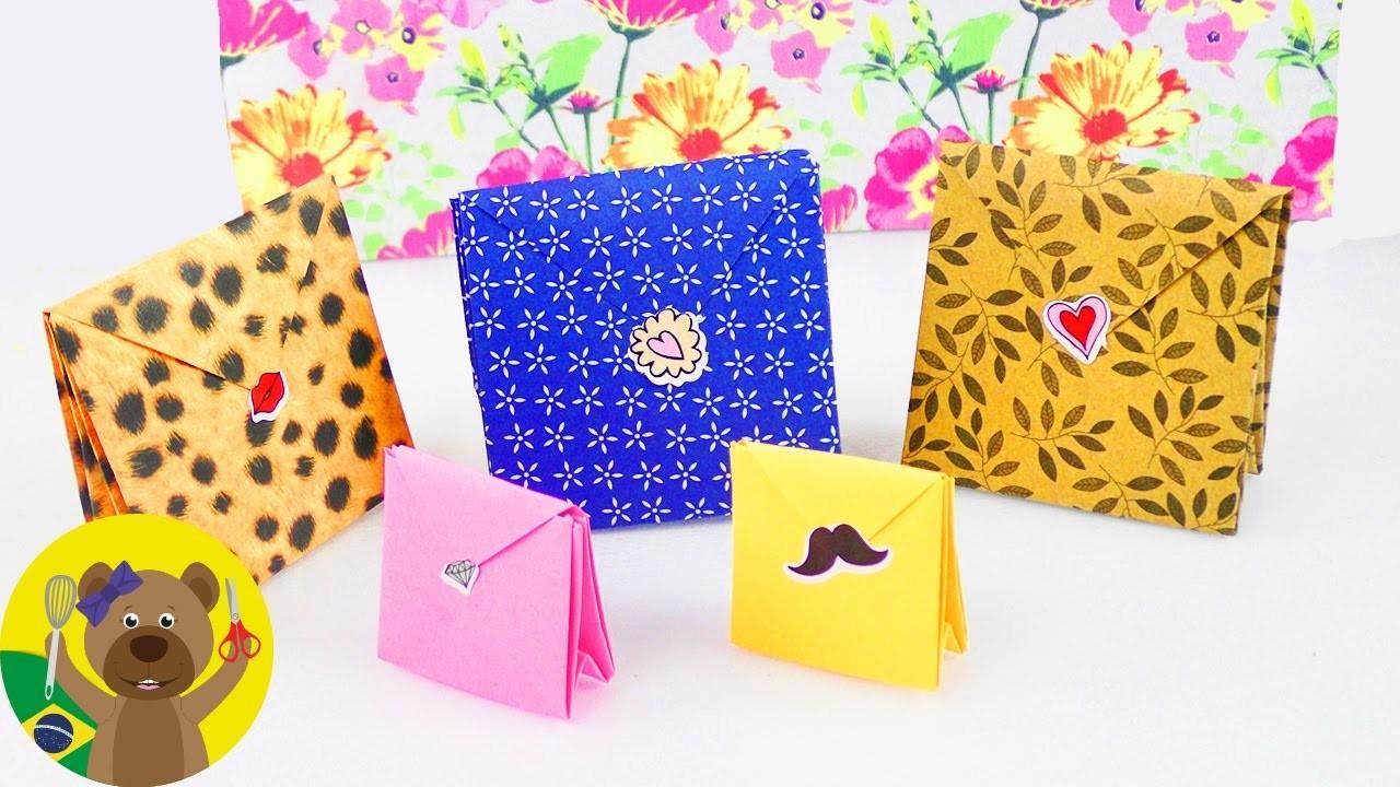 Bolsinhas para presente de origami - Prático e bonito - Embalagem de presente