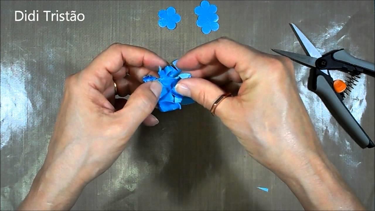 Como fazer flor de papel - Quase sessenta - Didi Tristão