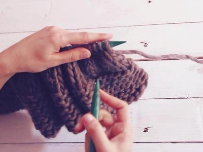 Como fazer uma gola capuz em tricô