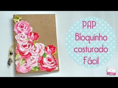 DIY Bloquinho costurado muito fácil  #PapelemTudo