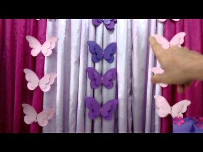 Diy-Decoração borboletas teen
