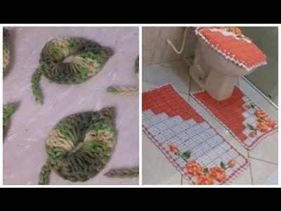 Folhas em Crochê Para Aplicar em Jogos de Banheiro e outros Tapetes com Cristina Coelho Alves