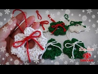 Mini guirlanda de Natal em crochê