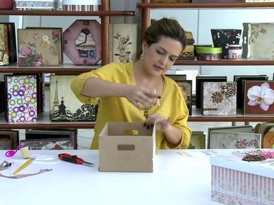 Mulher.com - 26.12.2014 - Caixa co scrap decor por Marisa Magalhaes - Parte 2