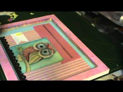 SCRAP DECOR! Quadro em tela com figura em 3D e papel de scrapbooking parte 2