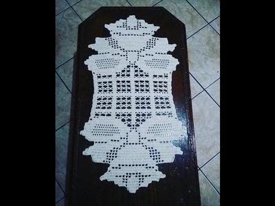 Trilho de mesa de Natal em crochê
