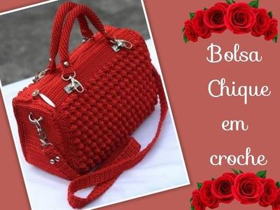 Versão canhotos:Bolsa chique em crochê ( 3ª parte penúltima ) # Elisa Crochê