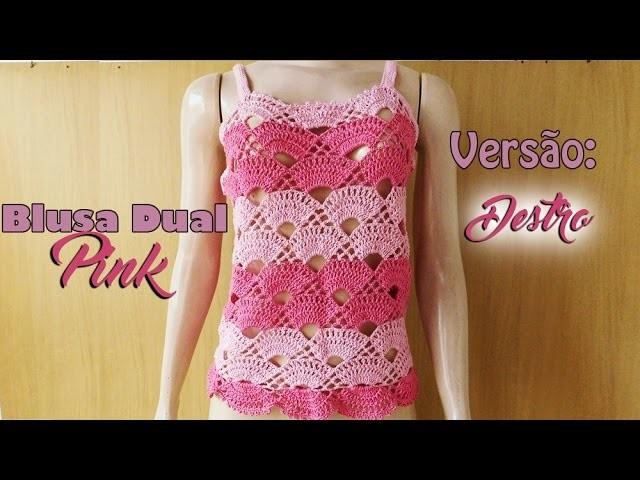 [Versão destro] Blusa Dual Pink (P)