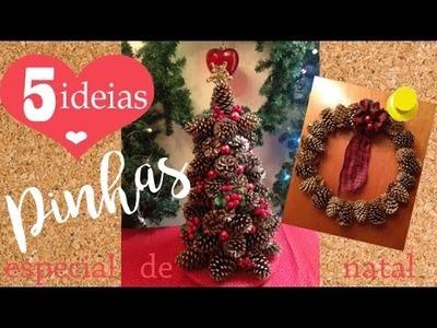 5 IDEIAS COM PINHAS | DIY Especial de Natal por Camila Camargo