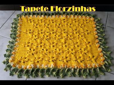 Crochê para Canhotas - Tapete Florzinhas