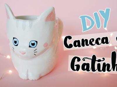 DIY: Caneca de Gatinho (Cat Mug)! Por Isabelle Verona