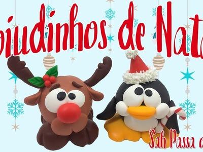 DIY - Rena e Pinguim Zoiudinhos em BISCUIT - Sah Passa o Passo