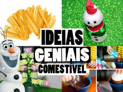 IDEIAS FÁCEIS PARA O NATAL : ENFEITE COMESTÍVEL , BONECO DE NEVE - GASTANDO POUCO #1