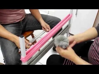 Tapete de pompom - Como fazer