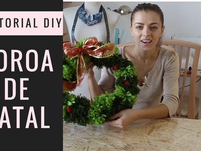 Tutorial DIY - How to make Christmas wreath | Como fazer uma coroa de natal #violinanicho #patchoka