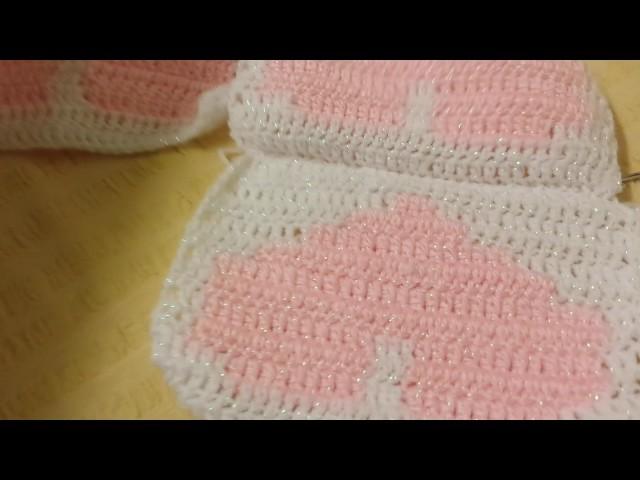 Unir os quadradinhos para almofada em croche