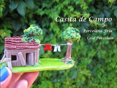 Casita de Campo en Porcelana Fria. Cold Porcelain